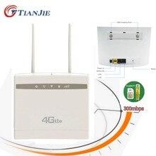 TIANJIE 3G/4G Portable Hotspot LTE Wifi Router WAN/LAN Port Dual External Antennas Modem Unlocked Wireless Sim Card CPE Wi-Fi