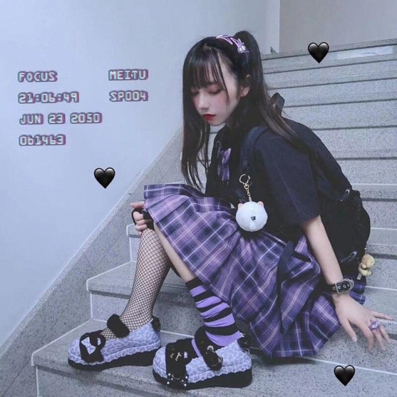 Japanese Harajuku Purple Pastel Cute Uniform (3 PCs) 2