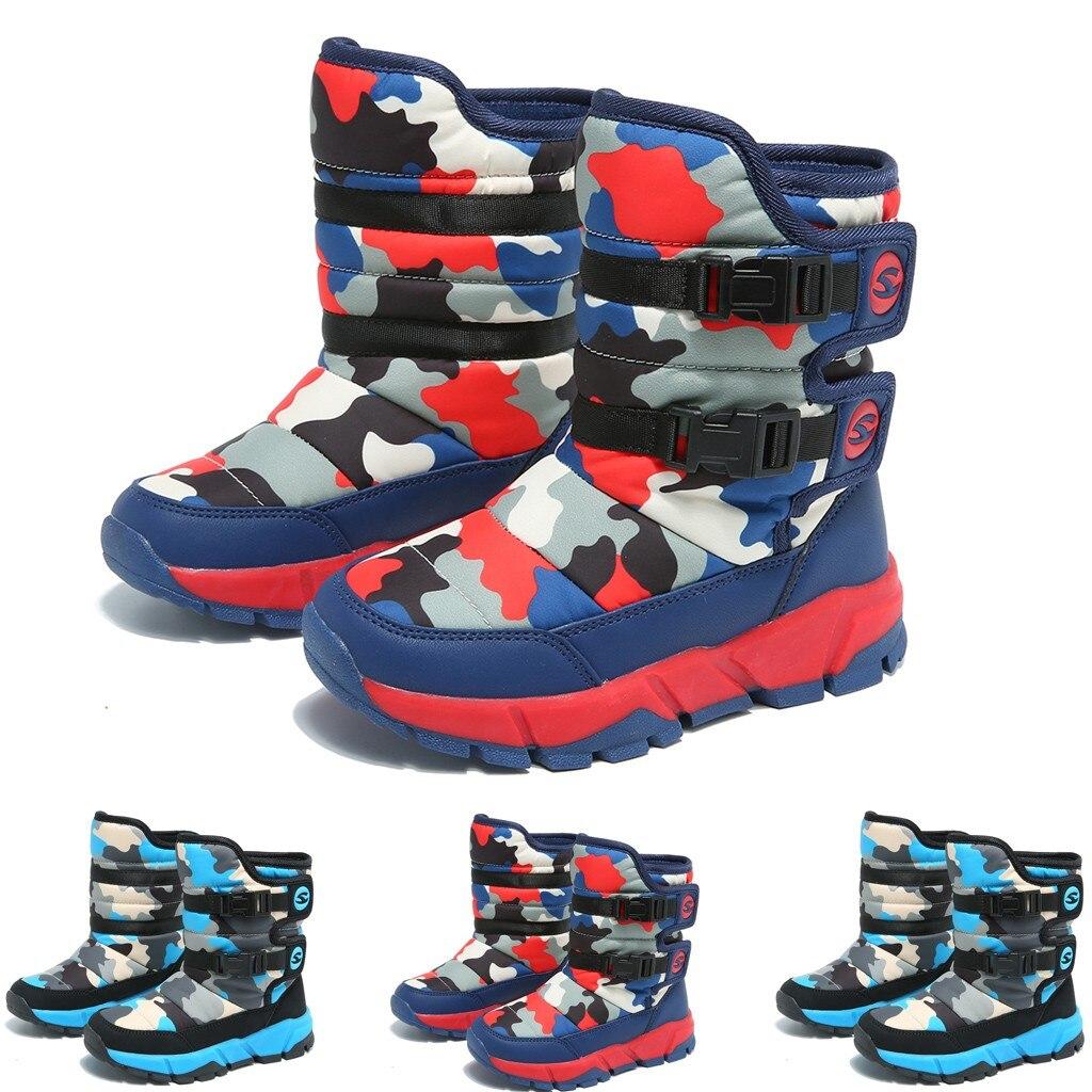 Toddler Boots Snow Comouflage Colors Child Boy Girls Casual Winter Waterproof Rain Boots Kids Winter Shoes Tenis Infantil Botas