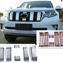 for Toyota Land Cruiser Prado J150 150 Car Front Grill Middle Net Trims Front Grille Grid Net Cover Trim