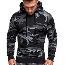 fashion hip hop style camouflage hooded sweatshirt men pullover long sleeve mens cotton hoodie