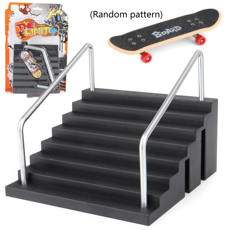 Fingerboard Rail Park Stair Kit Stairs Mini Skateboards for Kids Skateboard Game GXMB