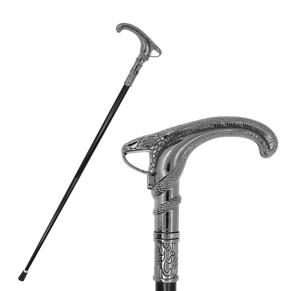 Snake Snake-Head Walking Stick Cane Men Fashion Canes Elegent Hands Free Party Antique Walking Cane Canes Man Crutch 94cm