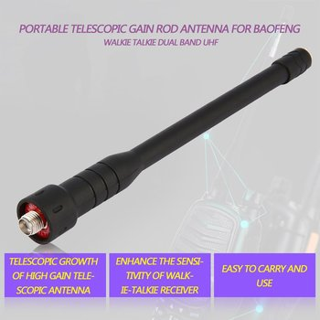 Rod telescopic gain Antenna for Baofeng walkie talkie Dual Band UHF for Portable Radio UV-5R BF-888S UV-5RE UV-82 UV-3R image