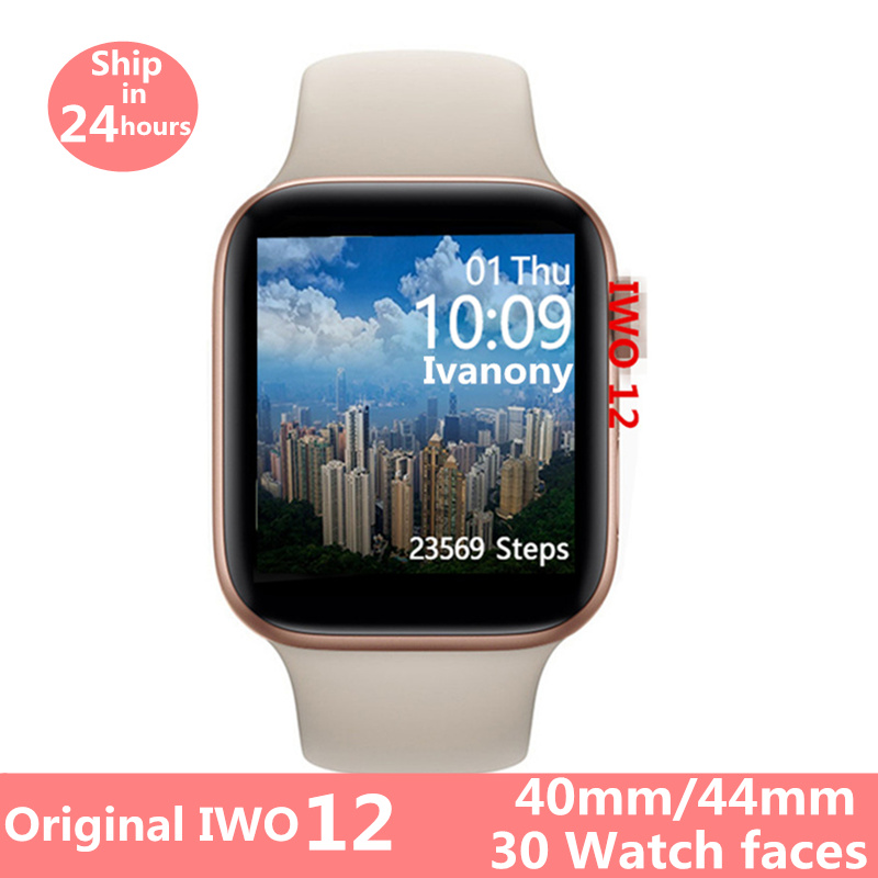 Original IWO 12 Watch 5 Series 5 1:1 Smart Watch IWO12 For Apple IPhone IOS Android ECG Heart Rate Monitor Clock VS IWO 11 IWO 8