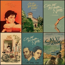 Compra tres para enviar una película clásica llamame por tu nombre vintage cartel de papel Kraft arte ilustración bar Café hogar decoración pintura
