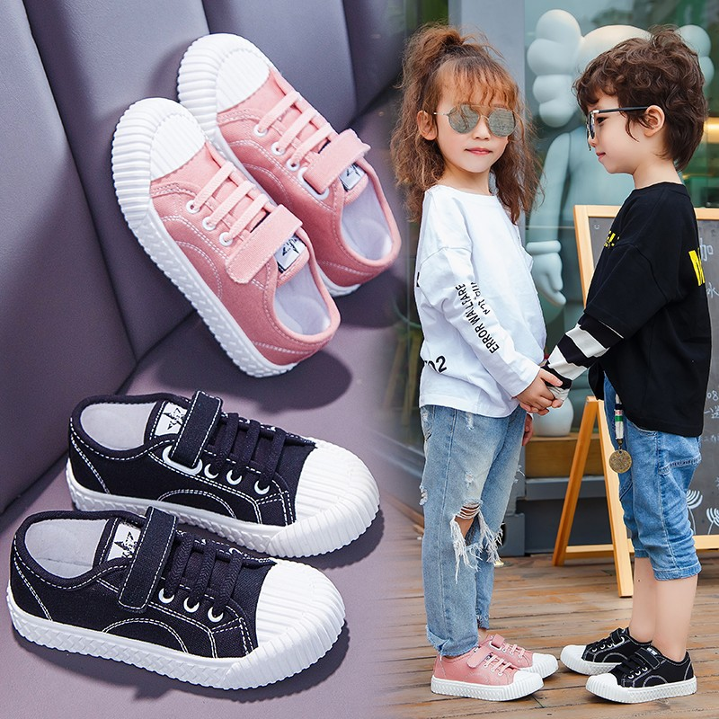 Kids Toddler Canvas Sneaker Shoes Slip-on Boy Girl Casual Shoes