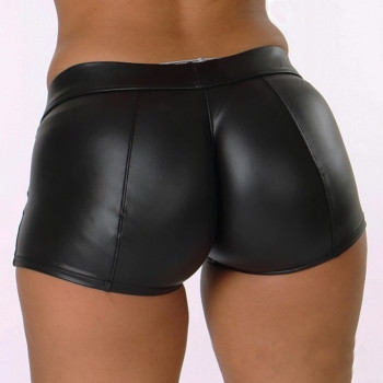 Leather Shorts Women High Waist Bodycon Push Up Black Short Joggers Sports Fitness Women Sexy Slim Shorts