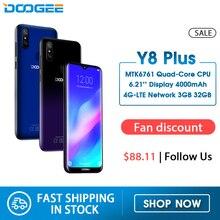 DOOGEE Y8 בתוספת אנדרואיד 9.0 FDD LTE 6.21 אינץ 19:9 ואטארדרוף מסך Smartphone MTK6761 3GB זיכרון RAM 32GB ROM 4000mAh כפולה ה SIM 13.0MPטלפונים ניידים