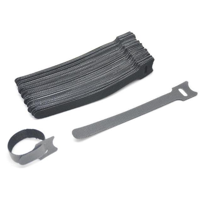 Фото 10 шт клейкая петля крюк нейлон и ремень кабельные стяжки многоразовые цена