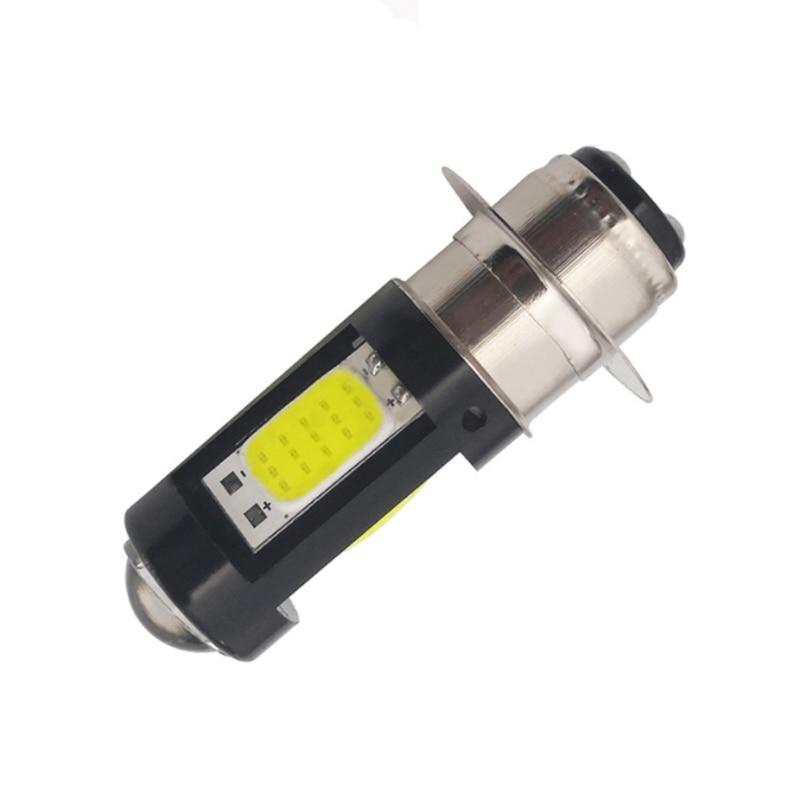 1 шт. H6M PX15D светодиодный мото лампа P15D светодиодный мотоциклетный головной светильник Hi-Lo луч Мотоцикл Скутер ATV светодиодный налобный фонарь противотуманный светильник белый 12-80 в