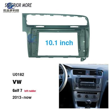 2 din 10.1 inch car radio Fascias for VW Golf 7th generation Dashboard Frame Installation dvd gps mp5 android Multimedia player image