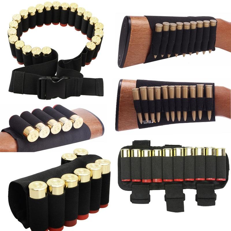 1000d náilon saco de bala ao ar livre buttstock caça munição bolsa tático militar airsoft escudo titular arma acessórios cartuchos