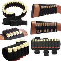1000D Nylon Proiettile Sacchetto Esterno Buttstock Caccia Ammo Pouch Tattico Militare Airsoft Borsette Titolare Gun Accessori Cartucce