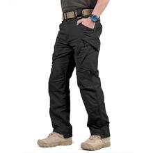 IX9 City taktyczne spodnie w stylu cargo mężczyźni bojowe SWAT wojskowe spodnie militarne wiele kieszeni Stretch elastyczne męskie spodnie typu casual tanie tanio Acacia Person Cargo pants COTTON Poliester Midweight 2 49 - 3 48 Pełnej długości W stylu Safari REGULAR Twill Kieszenie