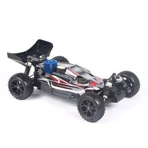 1:10 4WD метанол топлива дистанционного управления внедорожника Высокоскоростная Модель автомобиля-черный/синий