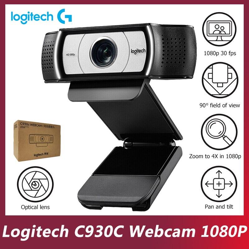 Logitech Original C930c Smart Camera Network Teaching 1080P Desktop Laptop Computer Video Conference Online Class HD Webcam