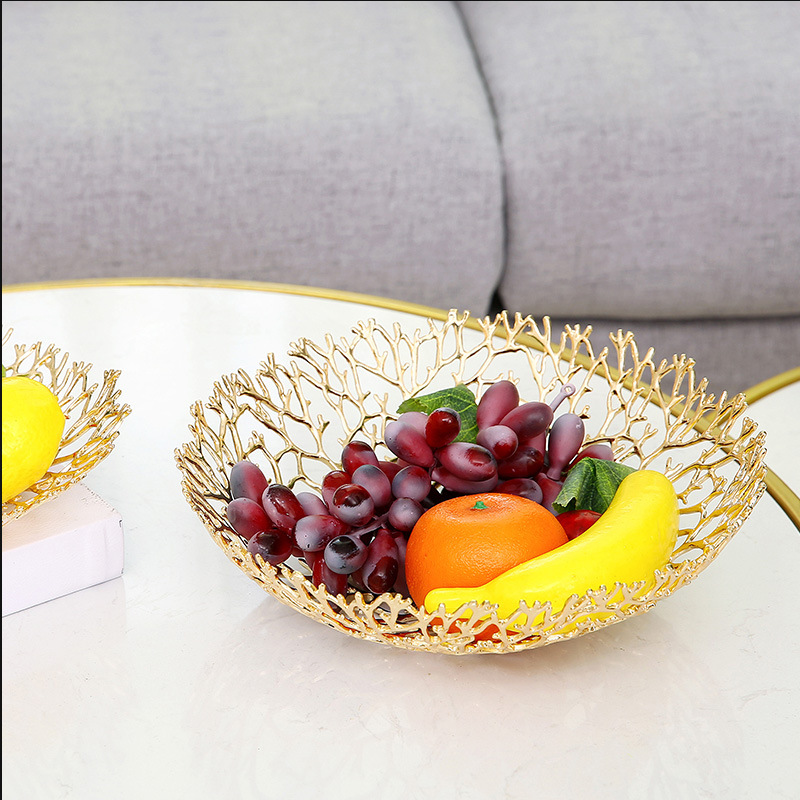Super Sale 57c9 European Light Luxury Fruit Bowl Living Room