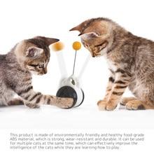 Pet Kitten Supplies Cat Catnip Ball Intelligent Interactive Balance Rotating Belt Wheel Chasing Toy Cat Tumbler Swing Toy