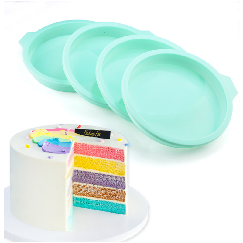 Topbaking Silicone Layered Cake Round Shape Mold Kitchen Bakeware DIY Desserts Baking Mold Mousse Cake Moulds Baking Pan Tools