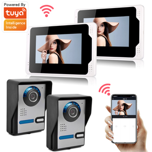7 дюймов Беспроводной Wi-Fi беспроводная IP видео дверной звонок Домофон Системы, 2xTouch Экран для контроля уровня сахара в крови с 2x720P проводной ...