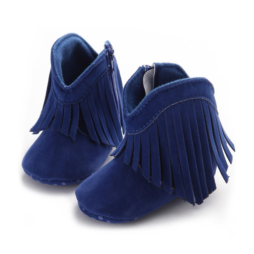 OUTAD Baby Girls Shoes Warm Winter Tassels Newborns Boots Fashion Snow Anti-slip Boots Toddler Solid Fringe Baby Moccasins Moccs
