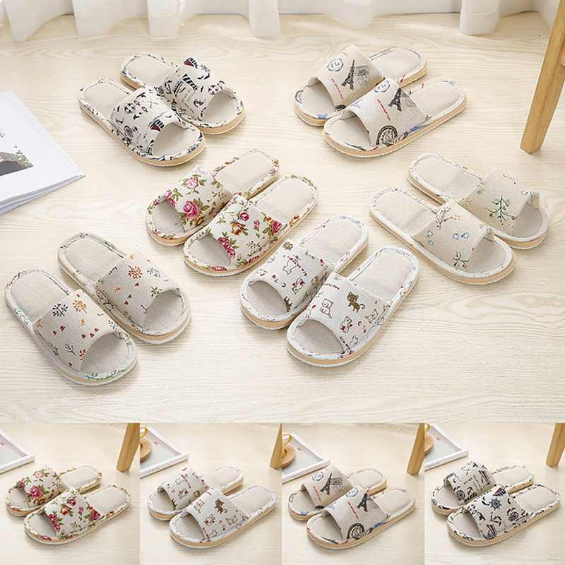 Unisex Pantofole Rotto Fiore Pantofole A Casa di Nuovo Modo Femminile e Maschile di Cotone Pantofole Pavimento casual Non-Scarpe antiscivolo