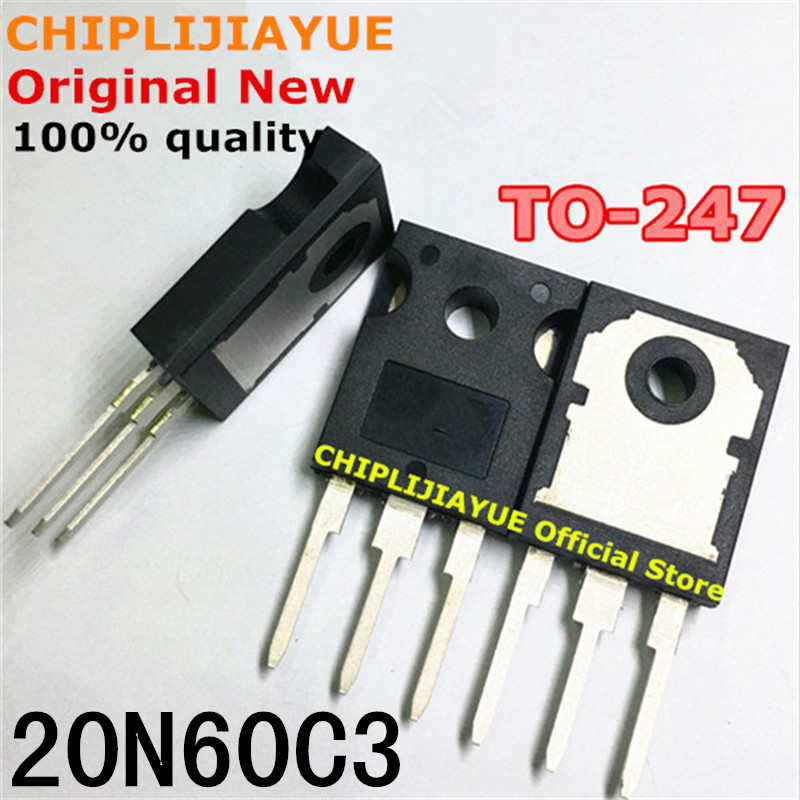 5 pces spw20n60c3 to247 20n60c3 to-247 novo e original chipset ic