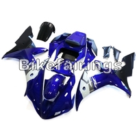 Cowling For Yamaha 2002 2003 YZF1000 R1 Fairing Kit ABS Injection Covers Shell Bodywork Plastic Panel Shiny Dark Blue White Hull