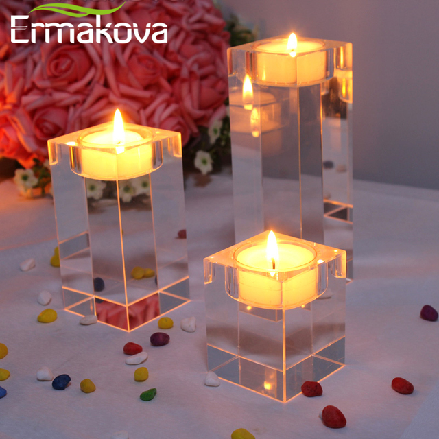 Ermakova candle holders solid crys