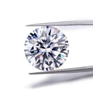 Moissanite bijoux diamant anneaux bracelet collier boucles d'oreilles pierre principale en vrac diamants DEFGHIJ couleur 0.5-2ct vvs1 perfcct cut ex