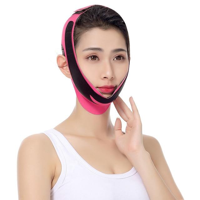 Elastic Face Slimming Bandage V Line Face Shaper Women Chin Cheek Lift Up Belt Facial Massage Strap Face Skin Care Beauty Tools 2