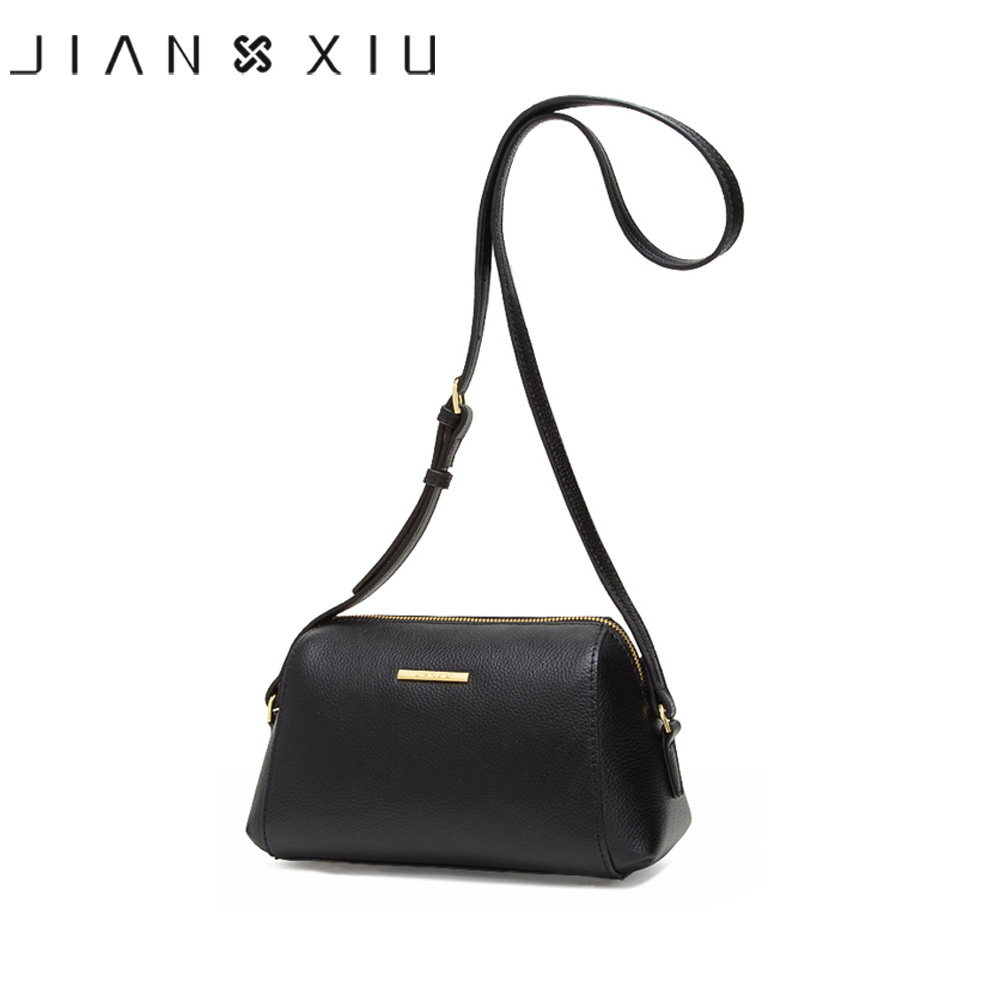 JIANXIU Brand Genuine Leather Bag  Lychee Texture Crossbody Bags For Women Messenger Bags 2019 Newest Small Shoulder Bag 2 Color