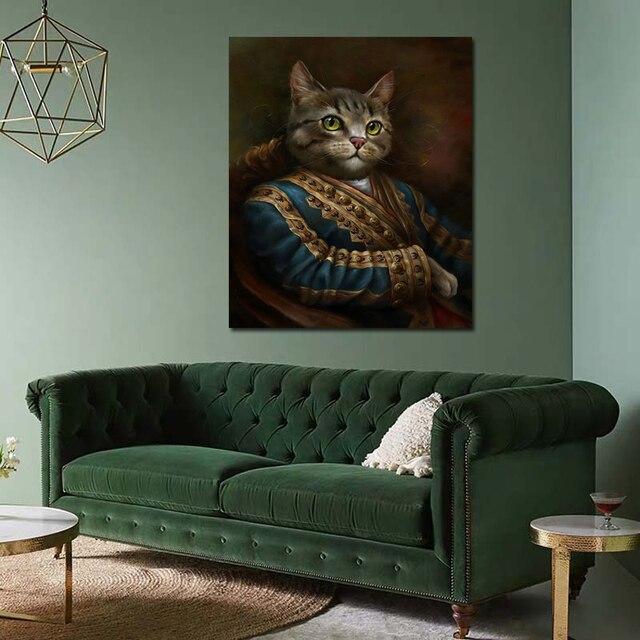 Фото абстрактная картина на холсте благородный кот без рамки современный