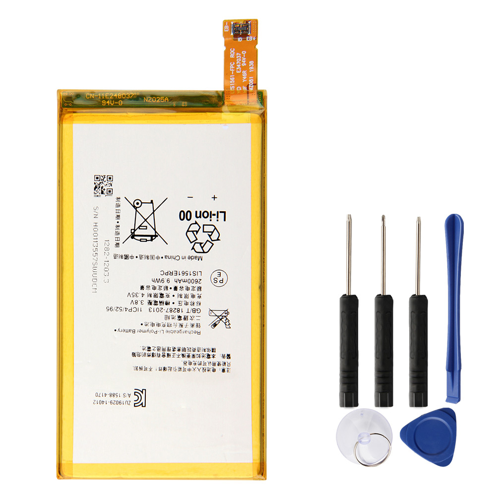 Original Replacement Battery LIS1561ERPC For <font><b>Sony</b></font> <font><b>Xperia</b></font> Z3 mini Z3 Compact C4 <font><b>E5333</b></font> M55W D5833 SO-02G Authentic Battery 2600mAh image