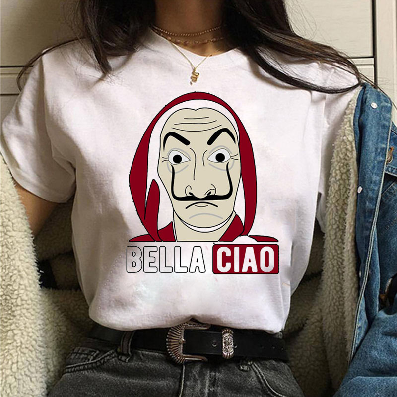 La Casa De Papel Tshirt Money Heist Tees TV Series T Shirt Women T Short Sleeve House of Paper Funny Female T-Shirt Tops