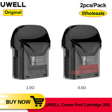 [Atacado] original uwell crown pod 3ml cartucho 0.6ohm mtl 1ohm restrito dtl replacment pod para uwell coroa pod sistema kit