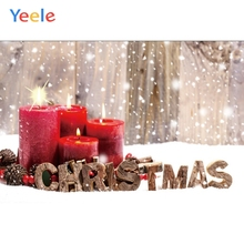 Yeele Christmas Photocall Bokeh Winter Candle Snow Photography Backdrops Personalized Photographic Backgrounds For Photo Studio