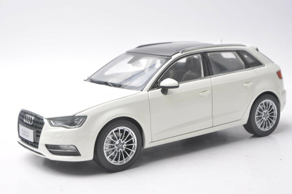 1:18 Diecast Model for <font><b>Audi</b></font> <font><b>A3</b></font> Sportback White SUV Alloy <font><b>Toy</b></font> <font><b>Car</b></font> Miniature Collection Gift S3 image