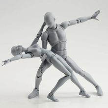 1 Set Drawing Figures For Artists Action Figure Model Human Mannequin Man and Woman Set Action Figure Toys Draw figures figurine цена и фото
