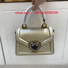 Luxury golden heart pearl handbag designer handbag lady 2021 new fashion chain shoulder bag messenger bag