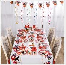 Coelho festa suprimentos coelho balões crianças festa de aniversário descartáveis pratos copos crianças decorações de festa presente