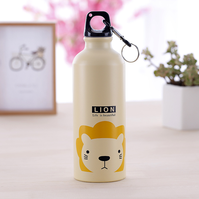500ml Cartoon Animal Aluminum Alloy Kids Cycling Bike Water Bottle  Outdoor Travel Sports Camping Hiking Water Bottles 2
