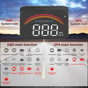 Image 5 - רכב OBD2 ראש למעלה תצוגה M11 GPS HUD דיגיטלי מד מהירות Overspeed מתח שמשה קדמית מהירות מקרן אבטחה מעורר טמפ PK M7