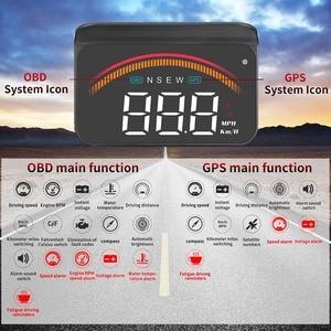 Image 5 - Pantalla para coche OBD2, M11, GPS, HUD, velocímetro Digital, voltímetro, parabrisas, velocidad, proyector, alarma de seguridad, Temp, PK, M7