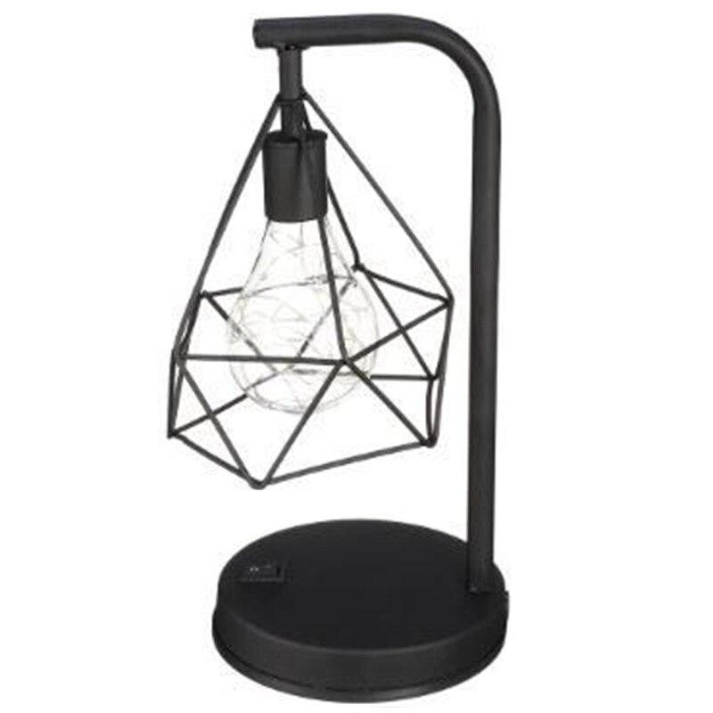 Reading Night Light Table Desk Lamp Home Decoration Retro Hollow Diamond Table Lamps Reading Lamp Night Light Bedroom Desk Light