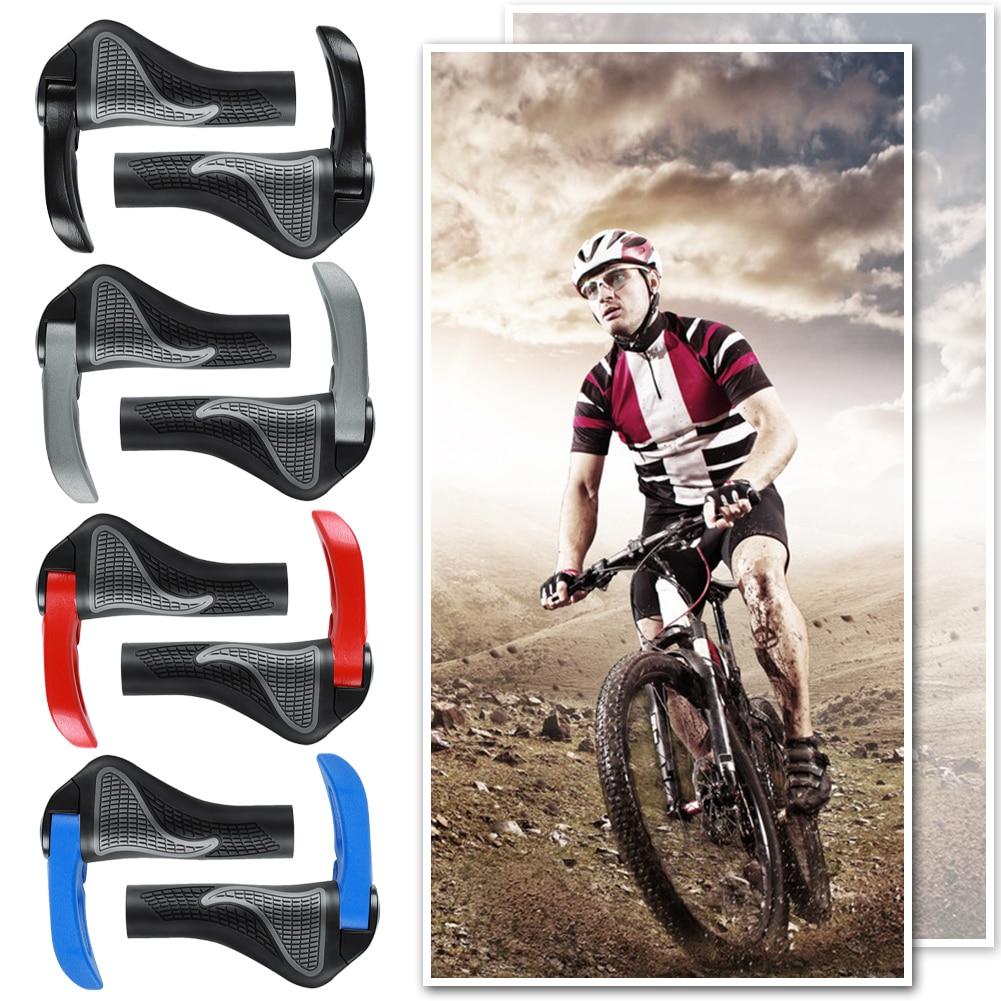 2x Cycling Lock-on Bike Bicycle Comfortable Handlebar Handle Bar Grip End Caps