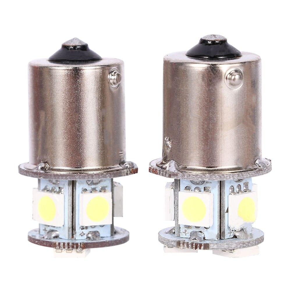 2pcs BA15S R5W 1156 5050 8SMD LED Car Tail Turn Signal Light Bulb White New