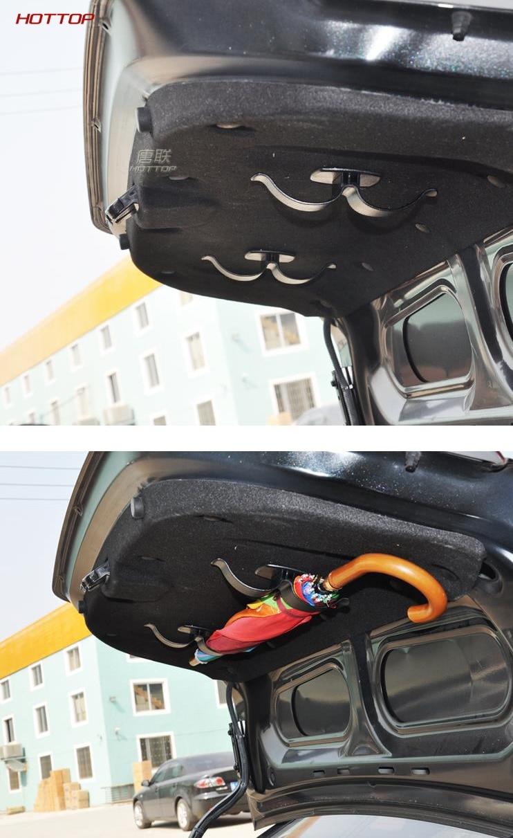 Автомобильный багажник крепление двойной кронштейн держатель зонта стойка зажим крюк многофункциональный авто внутренняя застежка Органайзер подходит