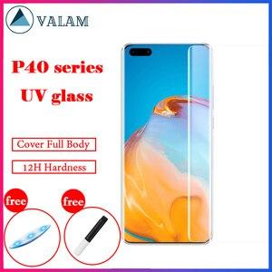 Для Huawei P40 Pro Mate 40 Pro защита для экрана из УФ-стекла закаленное стекло для Huawei P40 Mate 40 Pro RS защита для экрана